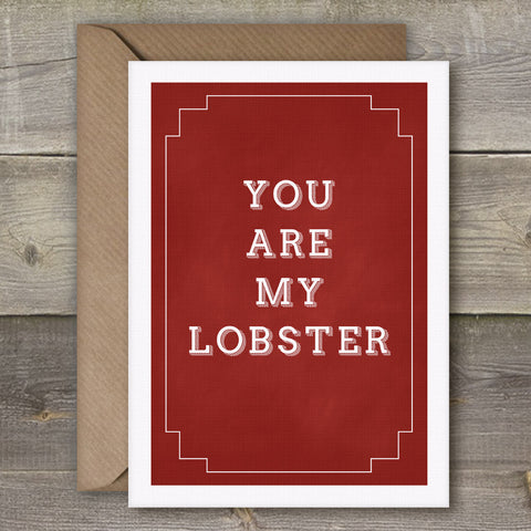 You Are My Lobster - SimpleThingsCards