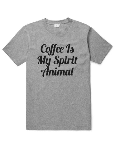 Coffee Is My Spirit Animal Funny Unisex Slogan T-Shirt - SimpleThingsCards