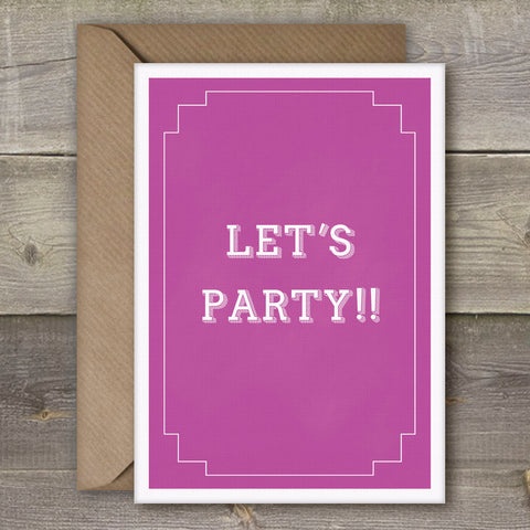 Let's Party!! - SimpleThingsCards