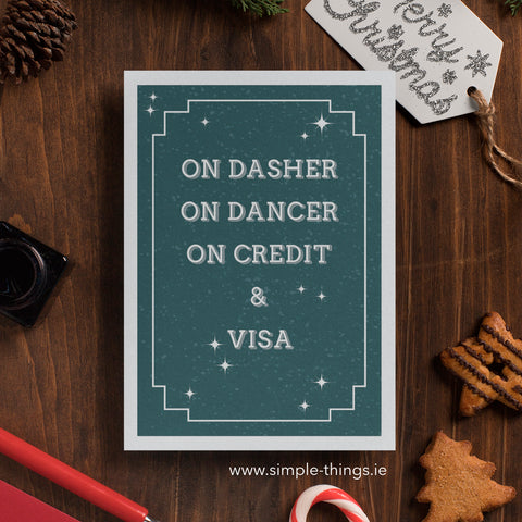 On Dasher On Dancer On Credit On Visa