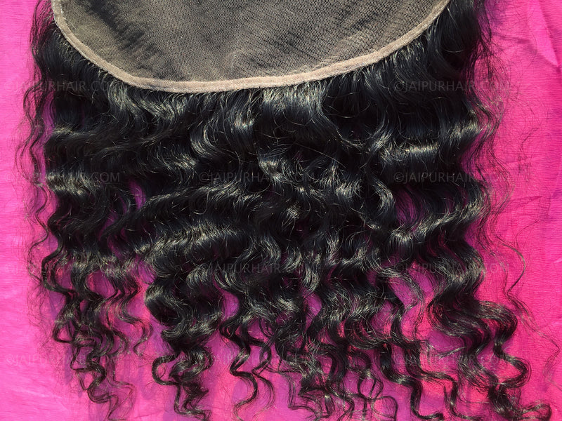 Raw Indian Curly Frontal | Virgin Indian Curly Frontal | Remy Indian Curly Hair