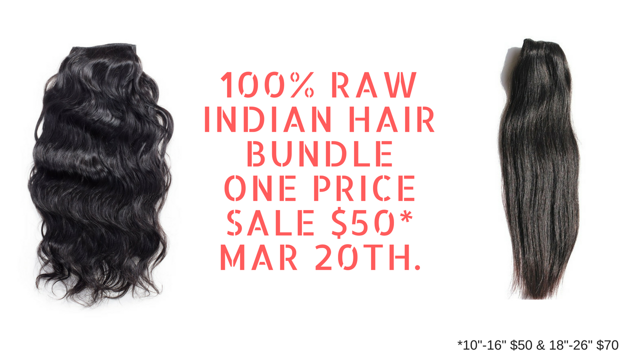 Virgin Indian Hair Sale 2017 | Raw Indian Hair Sale 2017