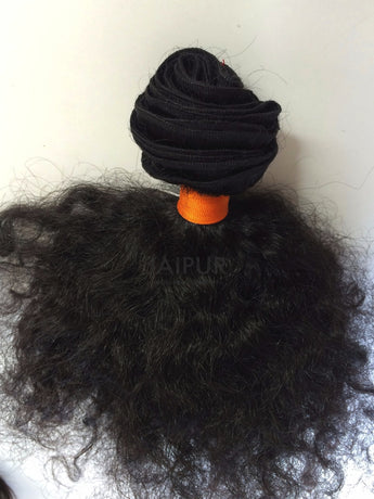 Sample Maharani Pure Curly Bundle - Raw Indian Hair, Virgin Hair Extensions, Jaipur Hair