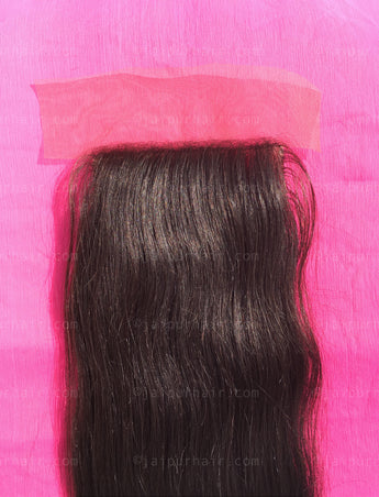 Raw Indian Straight Lace Closure - Raw Indian Hair, Virgin Hair Extensions, Jaipur Hair