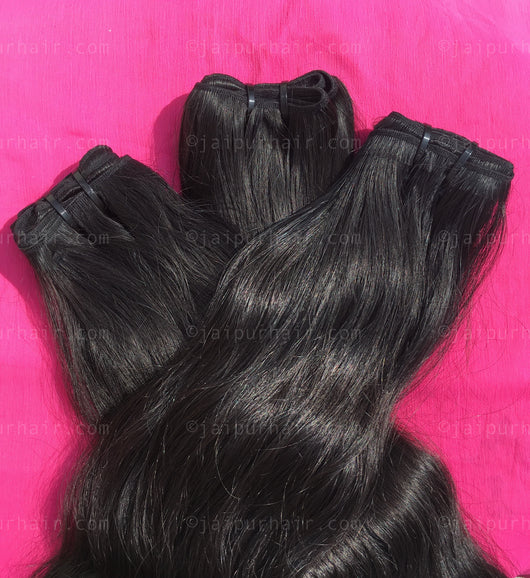 Maharani Raw Indian Wavy Bundle - Raw Indian Hair, Virgin Hair Extensions, Jaipur Hair