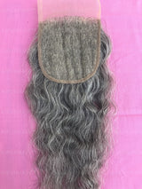 Raw Indian Grey Hair Closure