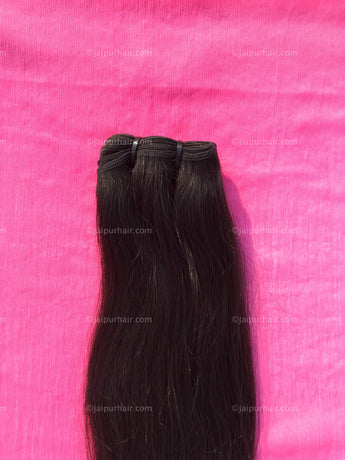 Hype Relaxed Remy Straight Bundle - Raw Indian Hair, Virgin Hair Extensions, Jaipur Hair
