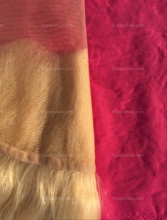 Blazin' Blonde #613 Wavy Indian Lace Frontal - Raw Indian Hair, Virgin Hair Extensions, Jaipur Hair