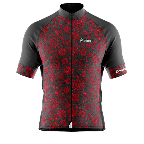 Cycling Jersey Doodles Flower