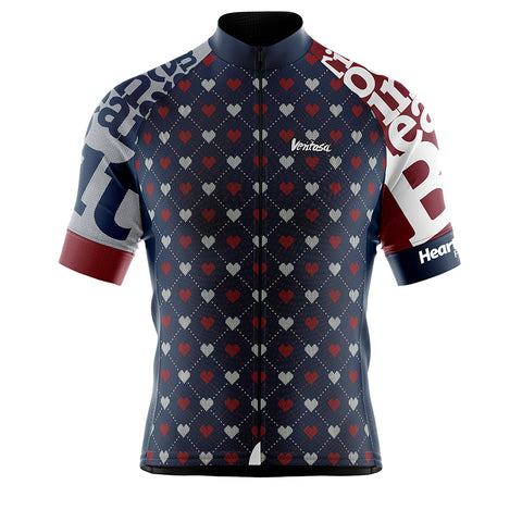 Cycling Jersey Heart Beat Marine