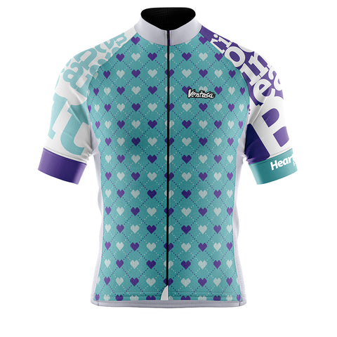 Cycling Jersey Heart Beat Aqua