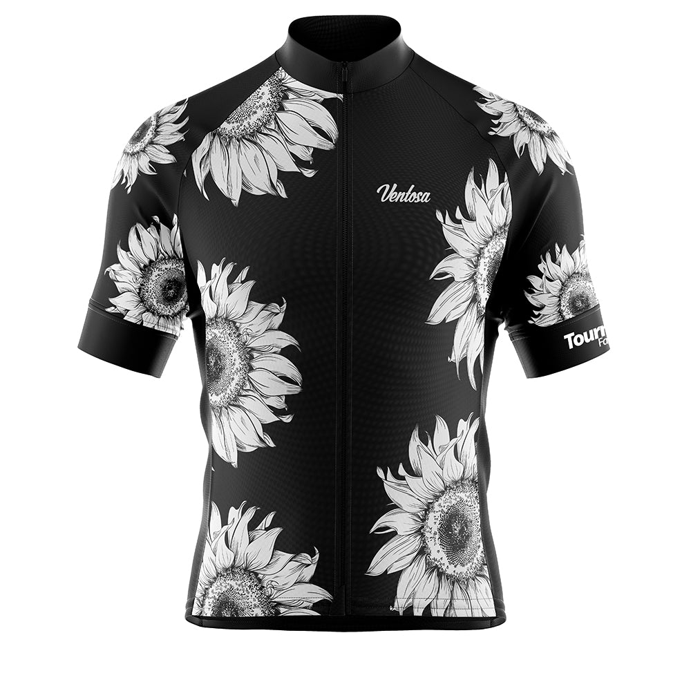 Tournesol Black Cycling Jersey