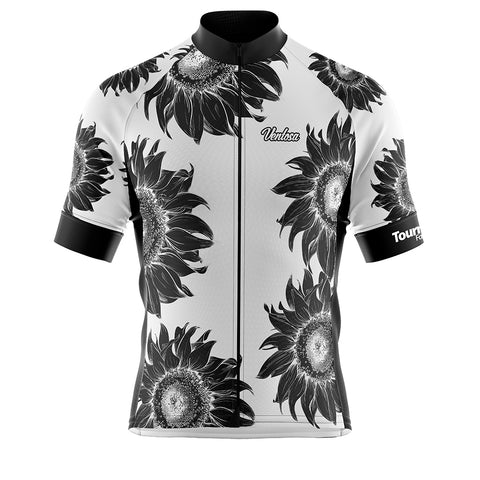 Tournesol White Cycling Jersey