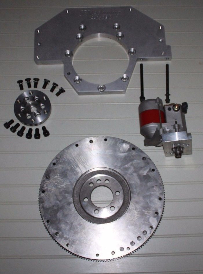 Kubota 03 transmission Adapter-> Small Block Chevy Manual Kit w/ 48lb flywheel