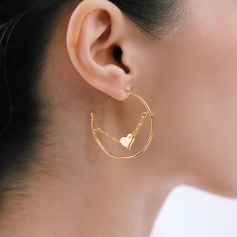 LOVE MORE LOOP EARRINGS