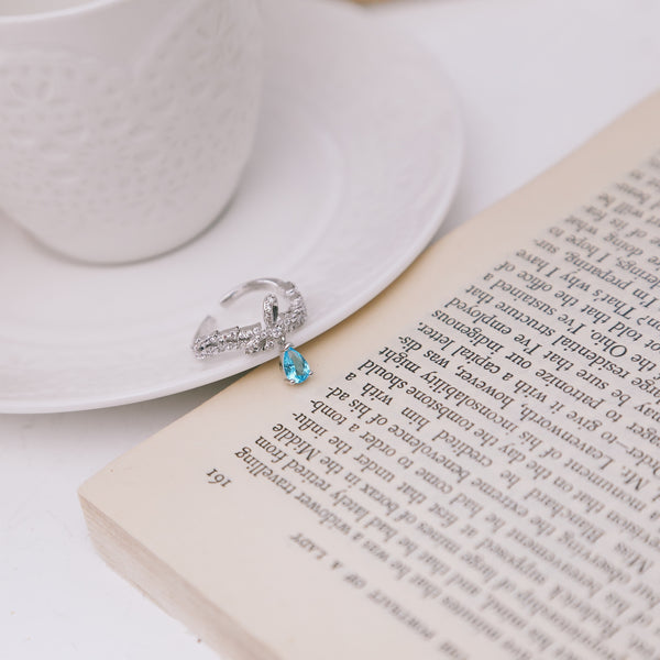 PARISIAN BLUE CRYSTAL RING