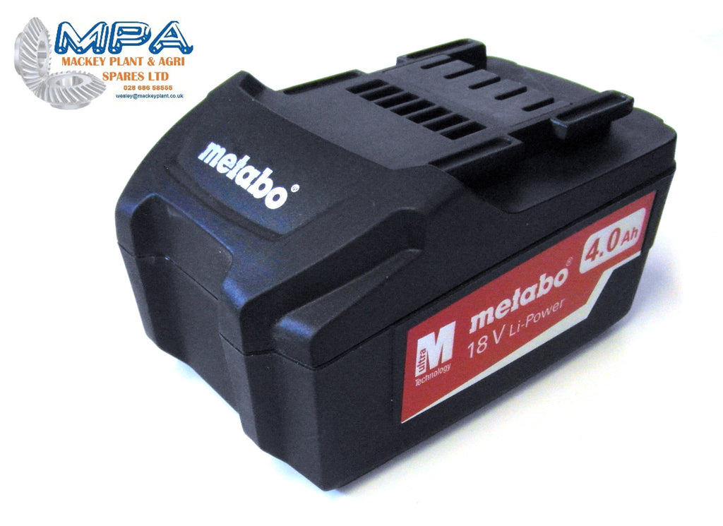 Genuine Metabo 18V 4 0Ah Lithium Battery (25591 With M-Ultra Technology)