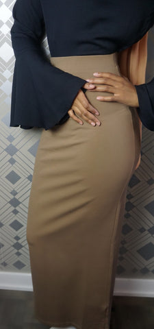 Maxi Tube Skirt- Taupe