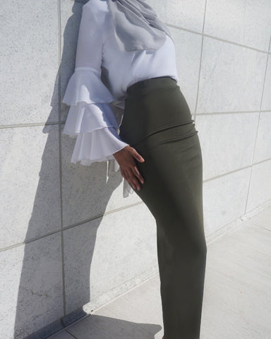 Luxe Maxi Tube Skirt - Olive