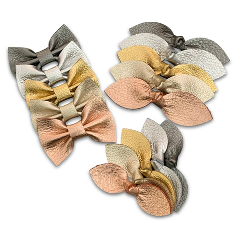 Genuine Leather Hair Bows