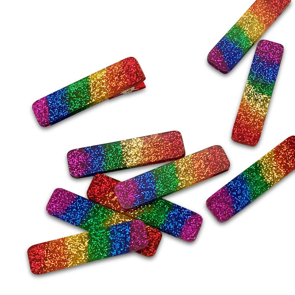 Rainbow Pride Bar Clips