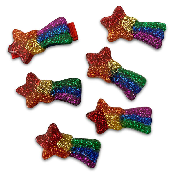 Rainbow Shooting Star Clips