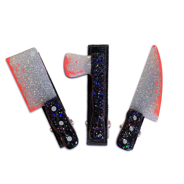 Bloody Knives Resin Hair Clips