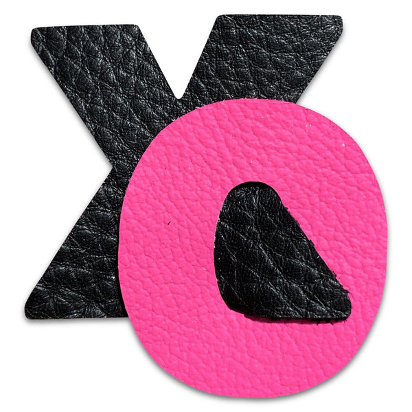 XO Valentine Leather Hair Bows