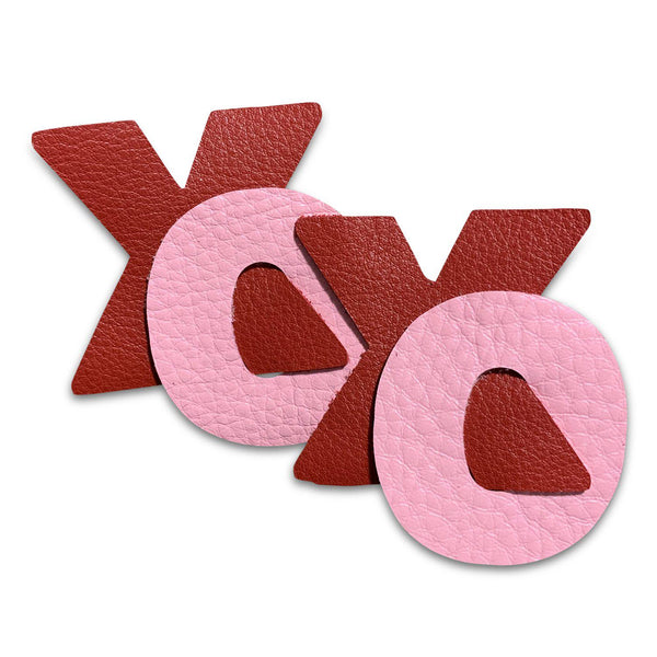 XOXO Valentine Leather Hair Bows