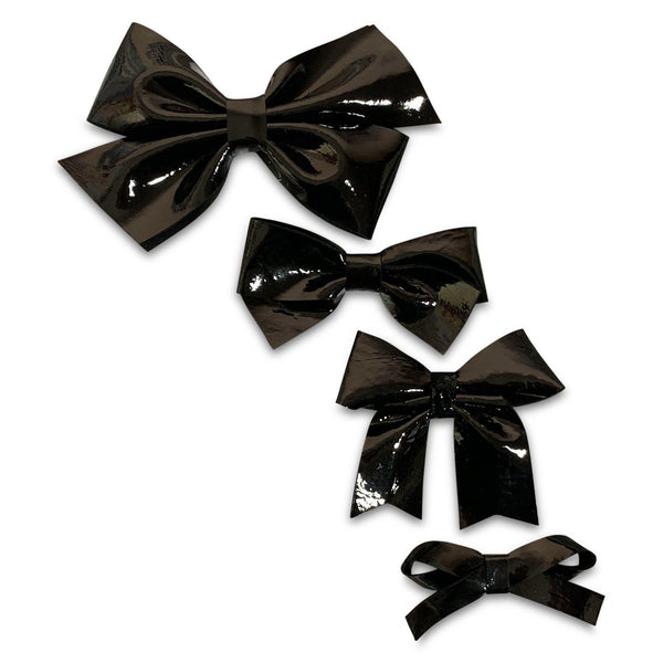 Black Patent Leather Hair Bows