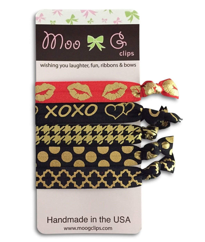 Moo G Clips no slip hair accessories - HairTies XOXO -