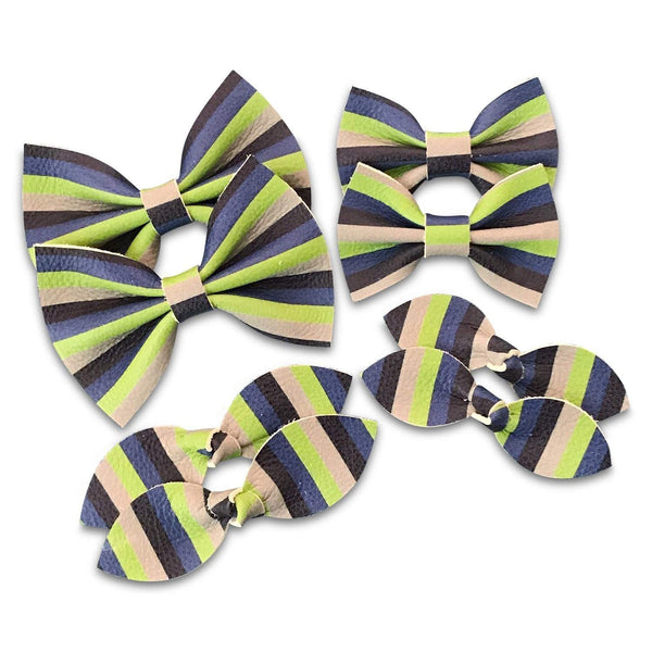Seahawks Leather Hair Bows-no slip leather hair bows no slip leather hair clips-Moo G Clips
