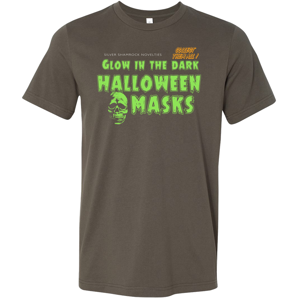 silver shamrock skull halloween 3 inspired mens tee shirt