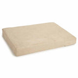 khaki foam memory dog bed