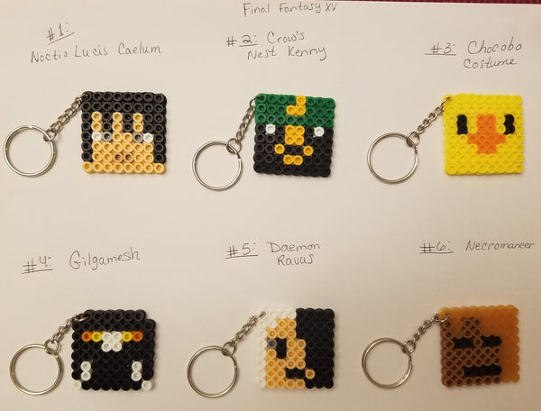 Final Fantasy party favor pack - Set of 8 keychains or zipper pulls