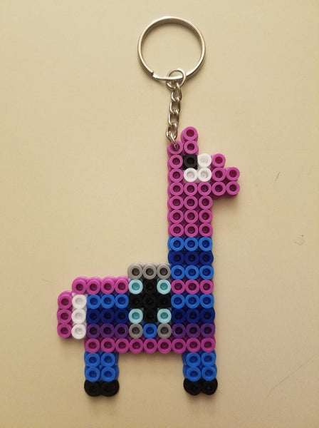Llama party favors - Set of 8 keychains or zipper pulls
