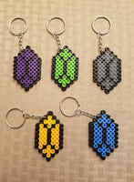 Rupee party favors! Set of 5 keychains or zipper pulls!