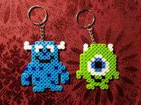 Monster's Inc. party favors - Set of 2 keychains or zipper pulls