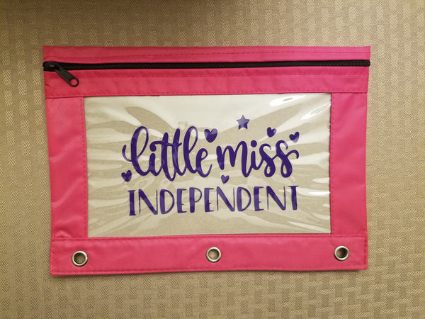 Little Miss Independent pencil pouch - Back to school!