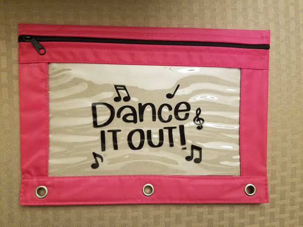 Dance it out pencil pouch - Back to school!