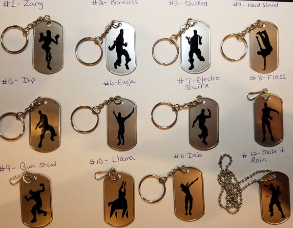 Floss like a boss party favors and more! Keychains, zipper pulls, or necklaces!