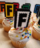 Popular online gaming cupcake toppers! Set of 9!