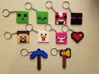 Mining party favors - Set of 10 keychains or zipper pulls!