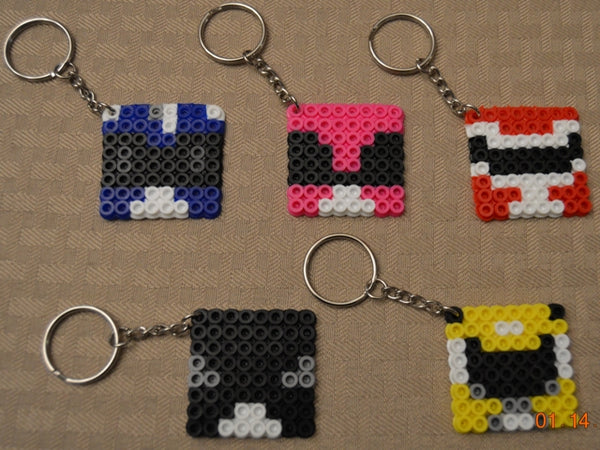 Power Rangers party favors! Set of 5 keychains or zipper pulls!