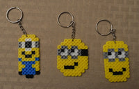 Minion party favors! Set of 3 keychains or zipper pulls