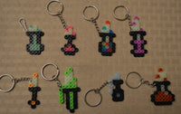 Potions party favors! - Set of 8 keychains or zipper pulls