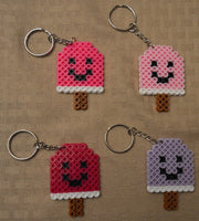 Popsicle party favors! Set of 4 keychains or zipper pulls!