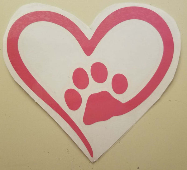 Puppy love car decal