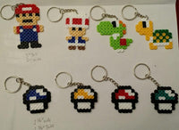 Mario party favors - Set of 8 keychains or zipper pulls