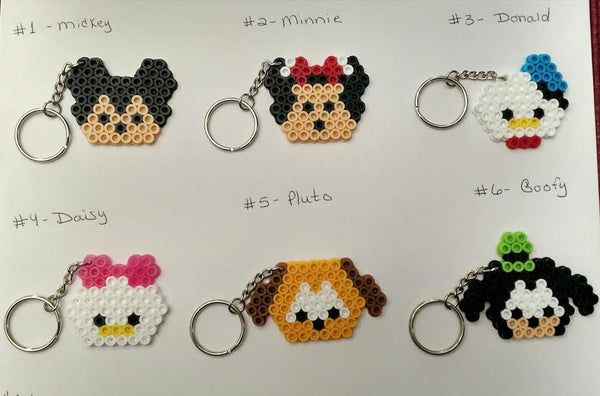 Tsum Tsum party favors - Set of 6 keychains or zipper pulls!